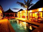 Villa Harmonie by night