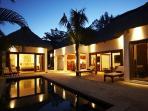 Navani villa - exterior view by night