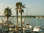 Balboa bay and marina located within a short walk from the beach house