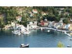 picturesque fishing village of Loggos