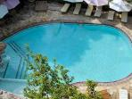 One of the two swimming pools