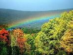 Rainbow in White Mountains