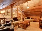 Loft with queen size  hide a bed doubles as third bedroom,tv with surround sound and dvd player