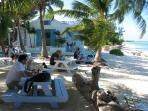 A restaurant specialising in Conch is a short stroll along the beach