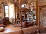 sitting room and library