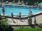The large heated pool is a hit with all ages.
