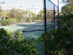 Tennis courts within Kiva Dunes