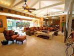 Open living spaces and vaulted ceilings