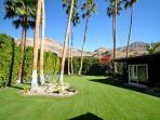 Elegantly manicured lawns