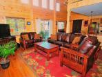 Beautiful New Log House - 4 bedrooms sleeps 10-12