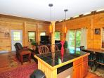 Kitchen, Dining & Living Area