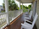 Master suite balcony with 4 Rocking chairs