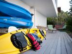 Beach Walk's kayak and snorkels free for your pleasure