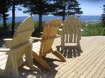 The deck is the place to be for a fantastic view of the Atlantic Ocean