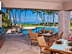 Sapphire Seas Beach Estate - Outdoor Dining and Living with BBQ and Wet Bar