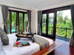 View of rice terraces from ground floor bedroom