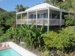 Makere House with swimming pool and terrace below