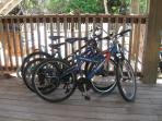 Bikes at the house