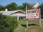 Brown's Famous Ice Cream, A must do! Near the Nubble Lighthouse