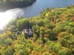 The Sundog Retreat from overhead-surrounded by the beauty of nature. . . Life is better at the lake!
