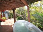 Enjoy the spa in the jungle setting.