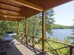 Large open deck area, with a Weber grill and the best views of the lake.