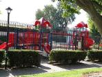 Kid's playground is newly renovated and gated
