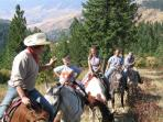 Horse Trail Rides out of the lodge