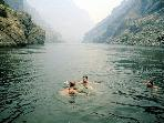 Swimming in the Snake River in Hells Canyon