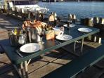An evening at the Fisherman's Quay, eating freshly caught crab..