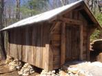 New for 2013 is the wood shed. Now there will always be plenty of dry wood to burn!