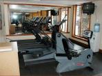 Fitness Room (in case you don't get enough exercise on the mountain!