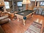4 HDTV's, Pool table and bar