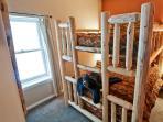 Double queen bunk bed. Sleeps 4 adults.