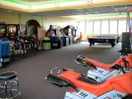 Large game room, arcade, and play area located 3 floors down on the second floor