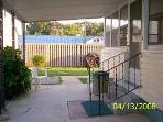 Back Covered Patio with Picnic Area and Gas Grill