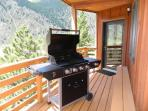 gas grill for cookouts with spectacular views