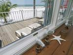 View to your deck & beach