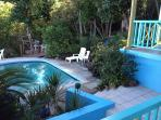 one of our guests took this looking at the pool and new sheltered deck behind it