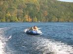 tubing on the lake Columbus Day weekend