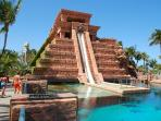 Mayan temple waterslide at Atlantis