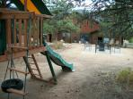 Commons Area-Fire pit, Horse shoes, Kids play area, Picnic tables, Lounge chairs