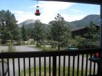 Aspen Grove private deck with table/chairs, grill and views