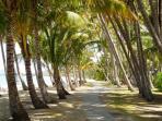 From Villa Beach just walk along the beach to ...........