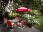 just outside the garden door there is terrace for al fresco dining- gas barbecue for cooking outside