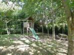 Children playground with picnic corner
