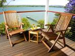 Your private deck off the master bedroom - ideal for a light lunch away from the family