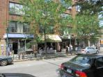 Bookstores, cafes, restaurants and lots of great gourmet coffee :)