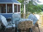 Upper deck and screened porch