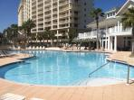 Large Outdoor Pool At Clubhouse With Tiki Bar And Poolside Cafe Included With Rental
